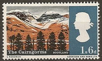 The Cairngorms in Scotland on stamps