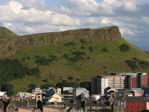 View of Salisbury Crags from Calton Hill, Edinburgh