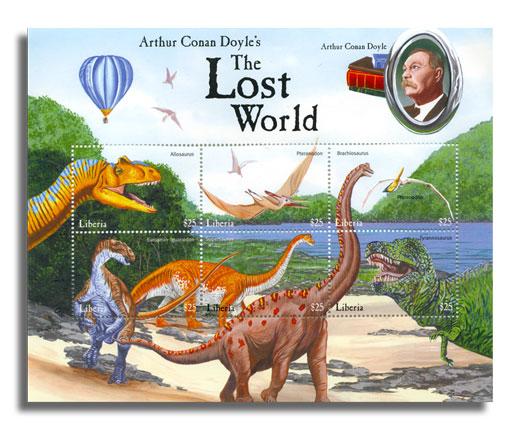 Liberia - The Lost World - Sheet of 6 postage stamps- 1999