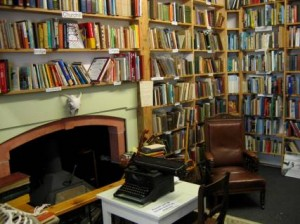 Typewriter near inglenook in The Book Shop (Wigtown,Scotland)