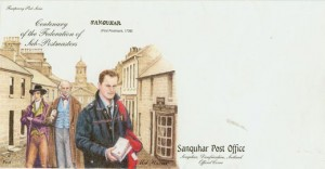 Cacheted Enveloppe Commemorating Centenary Of The Federation of Sub-Postmasters-Sanquhar,Scotland.
