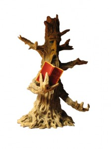 Tree Poet Reading Book Figurine Scotiana.com