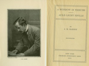 Windows In Thrums &amp; Auld Licht Idylls -J.M. Barrie 1912 Charles Scribner's Sons 