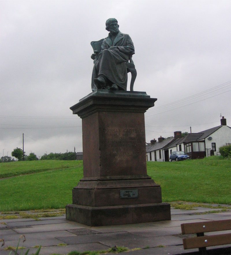 Thomas Carlyle Statue - Ecclefechan - Dumfries & Galloway Scotland