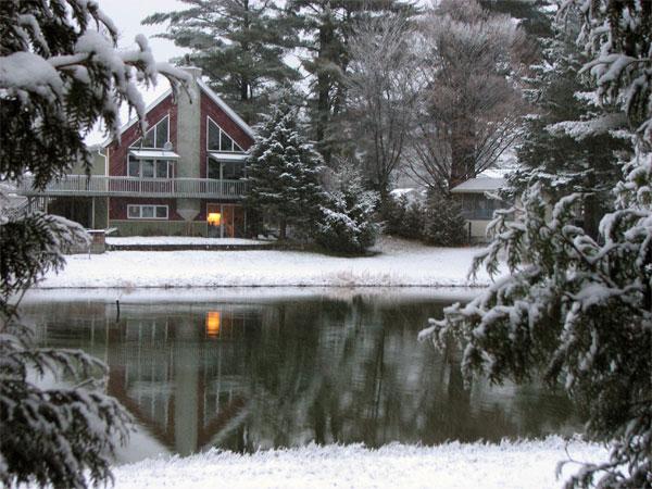 Winter Scene Near the Lake - Janice Dugas Photography