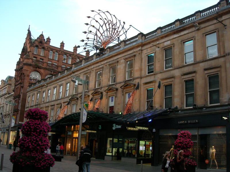 Princes Square Shopping Centre on Buchanan Street in Glasgow