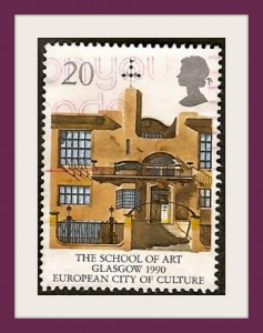 Great Britain Glasgow School of Art Postage Stamp