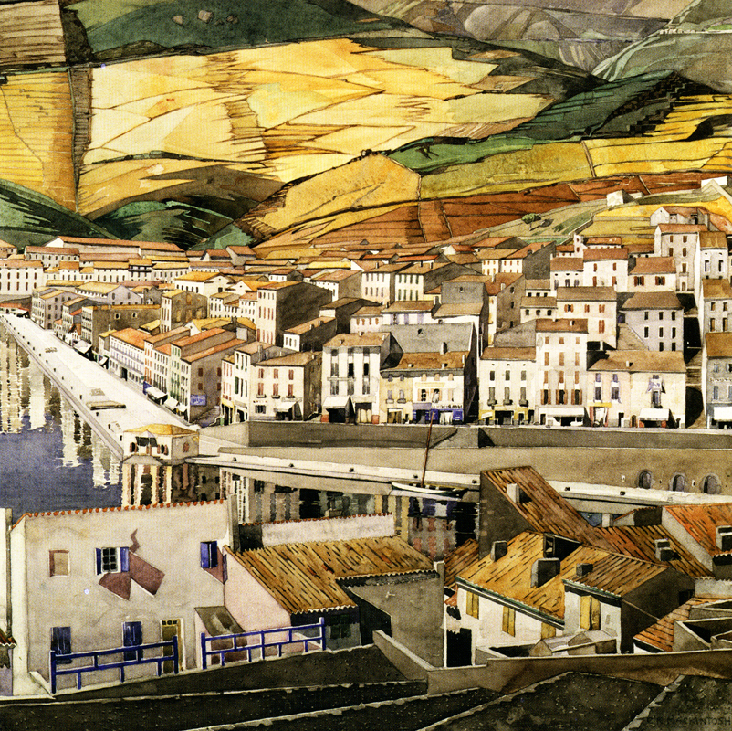 Charles Rennie Mackintosh Watercolour (Image courtesy Scotiana)