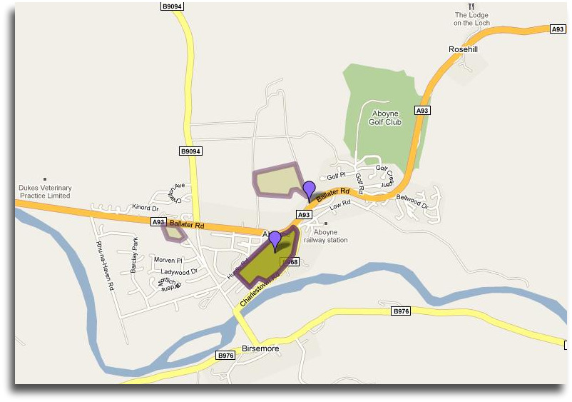 Google-Map-Aboyne-Highland-Games-Aberdeenshire