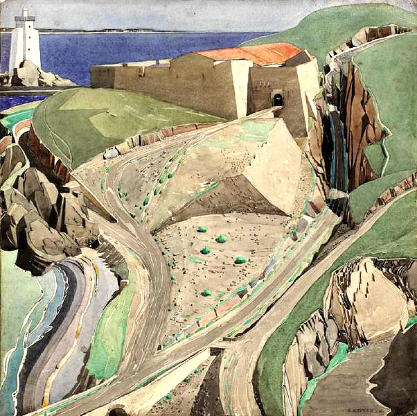 Charles Rennie Mackintosh's watercolour  The Fort Port-Vendres