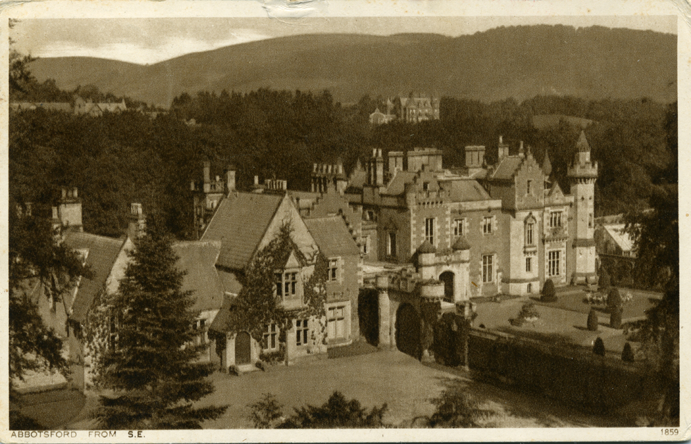 Old Postcard of Abbotsford - Home of Sir Walter Scott- Scotland
