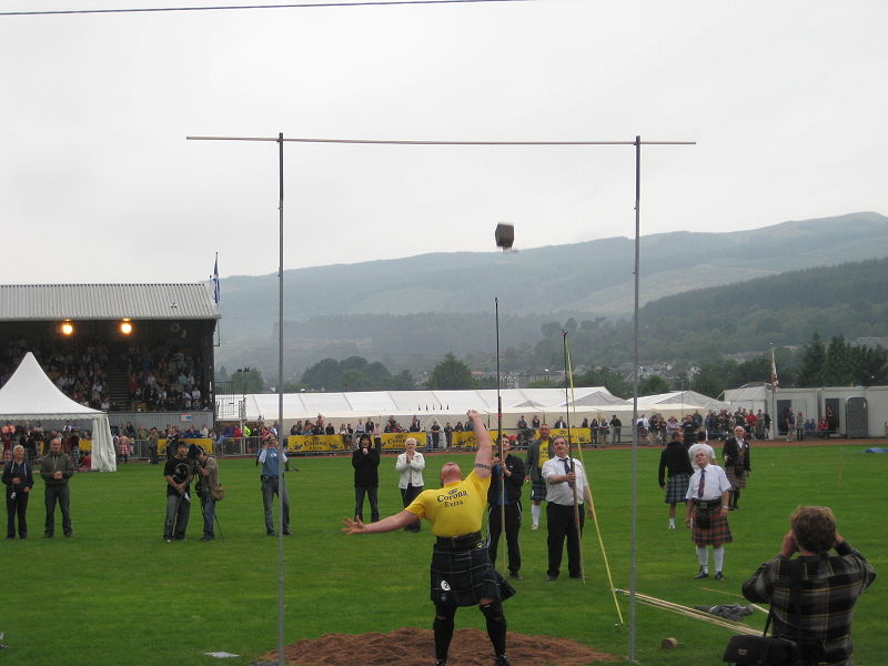 Cowal Highland Games Hammer Throwing Dunoon