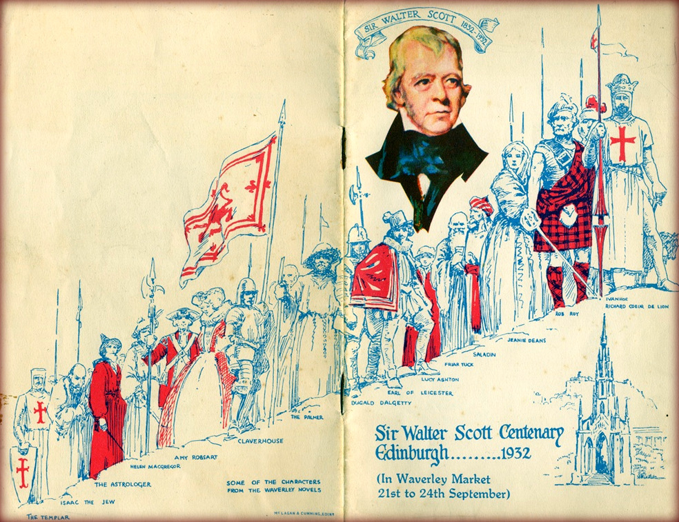Sir Walter Scott Centenary Edinburg 1932 in Waverley market