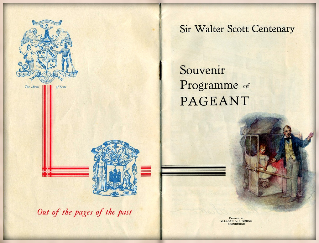 Walter Scott Souvenir Programme of Pageant