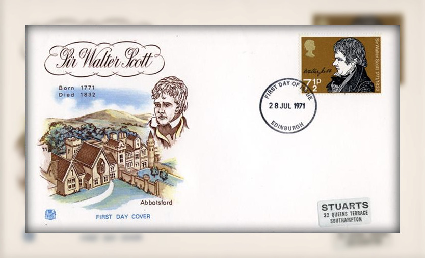 Sir Walter Scott - Abbotsford on GB First Day Cover