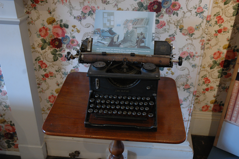 Scottish Borders Abbotsford Sir Walter Scott's house  Nigel Tranter exhibition author's typewriter