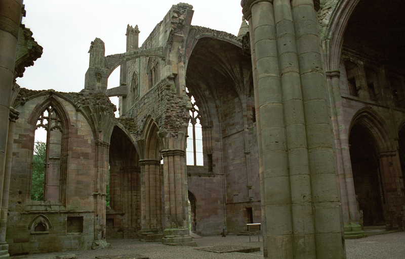 Scottish Borders Melrose Abbey Church