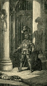 The Lay of the Last Minstrel Deloraine Knight illustration