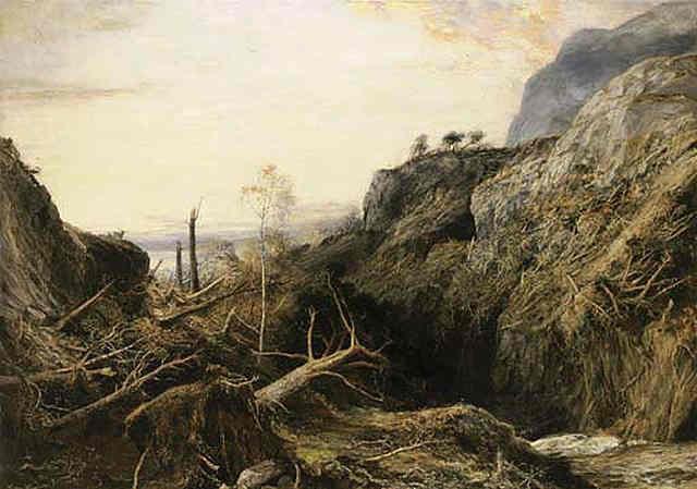 The Track of the Hurricane by John MacWhirter - Scottish Painter