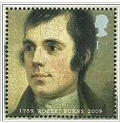 Great Britain 2009 Commemorative stamps - Robert Burns