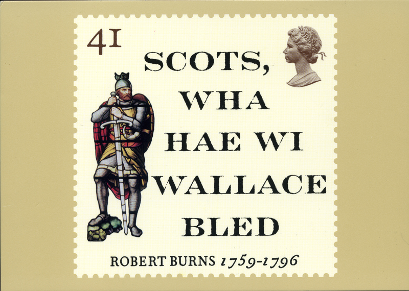 Robert Burns Royal Mail Stamp Card Series Scots Wha Hae 1996