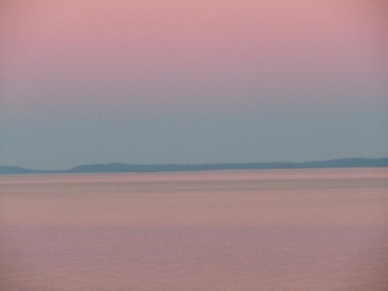 Quebec PQ Cap Bon-Désir Sunset