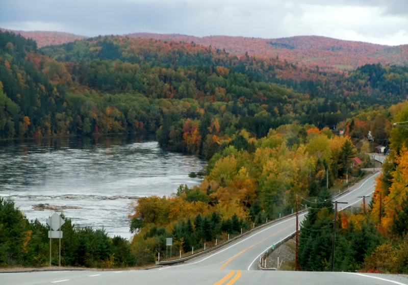 On the road from St Augustin, Mirabel to Lac Bouchette, Saguenay Lac St-Jean. <br>Autumn Scenic Road of the Province of Quebec. Photo: Scotiana October 2010