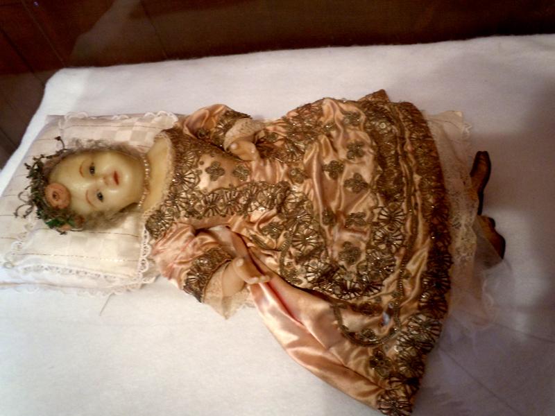 Tadoussac Chapel Wax Jesus baby doll Quebec PQ