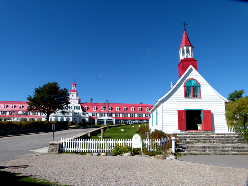 Tadoussac Chapel  and Hotel Quebec PQ