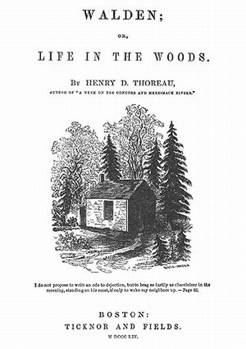 Thoreau Walden or Life in the Woods Ticknor and Fields Boston (Original Publisher)