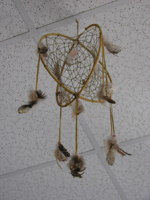 Indian dream catcher Essipit Innu Indian Reserve Quebec QC