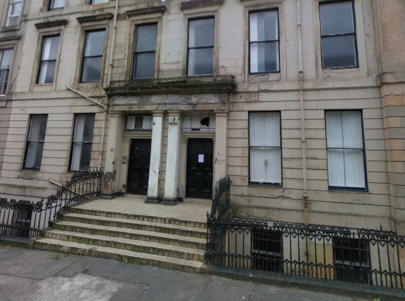 Miss Marion Gilchrist's House in Glasgow, on West Princes Street, formerly Queen's Terrace - © Google 2010