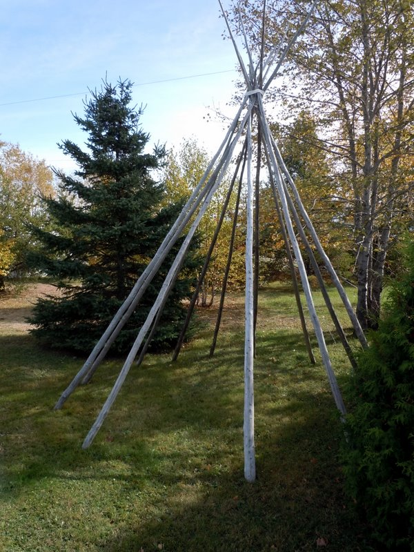 Indian teepee structure Essipit Quebec 2010