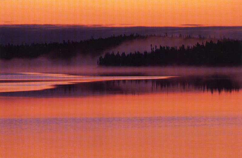 Postcard Sunset Fermont Labrador Quebec photo Claude Bouchard