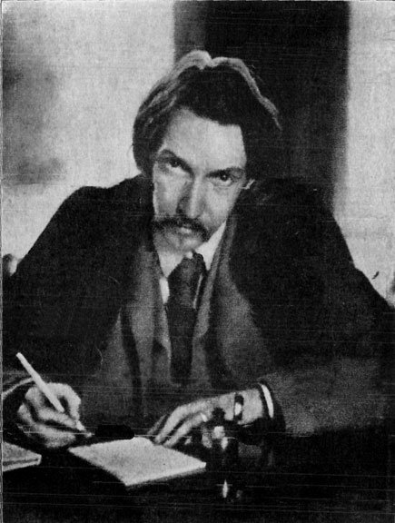 Robert Louis Stevenson, from a photograph by Lloyd Osbourne