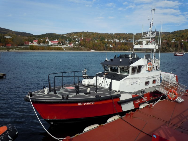 Tadoussac harbour Cap d'Espoir coast guard ship Quebec QC