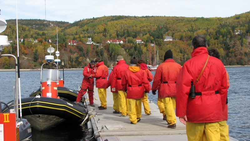 Otis zodiac whales watching cruise Tadoussac Quebec QC