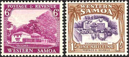 Western Samoa Robert Louis Stevenson Vailima House And Tomb