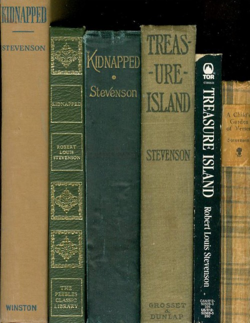 Robert Louis Stevenson Books On A Bookshelf