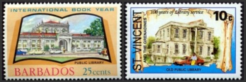 Andrew-Carnegie-Public-Library-on-stamps