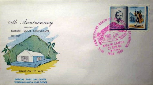 Samoa First Day Cover Robert Louis Stevenson - Kidnapped