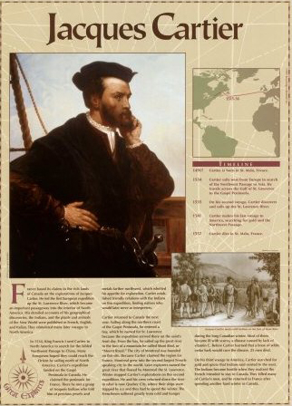 Jacques Cartier Great Explorers Education Art Poster Print