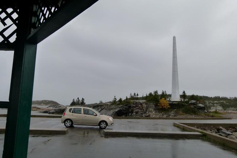 Obelisk at Le vieux quai Raguenau Route 138 Quebec PQ