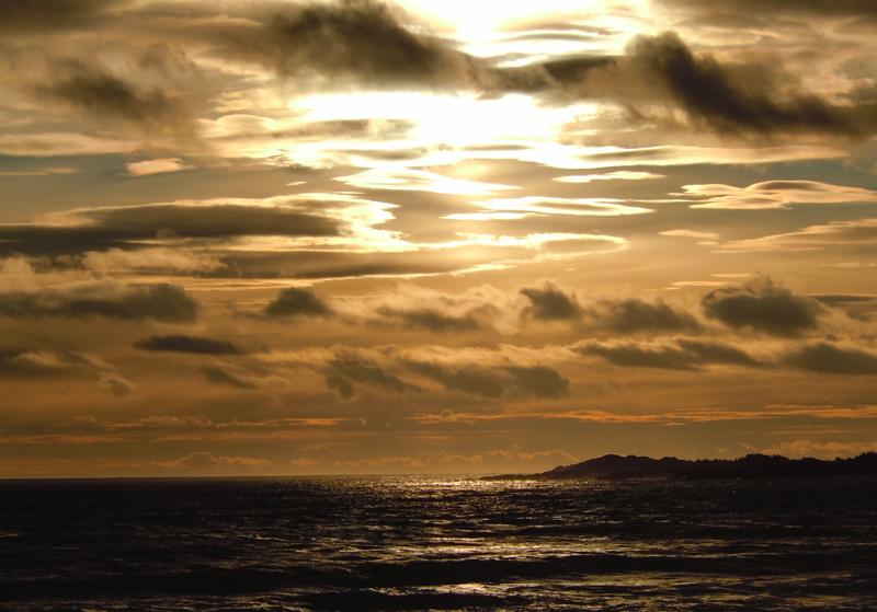 St Lauwrence sunset  Route 138 Hâvre-Saint Pierre Côte-Nord Quebec PC Scotiana 2010
