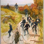 Bicycling ca 1887 Hy Sandham Aquarelle print by L. Prang & Co Source Wikipedia