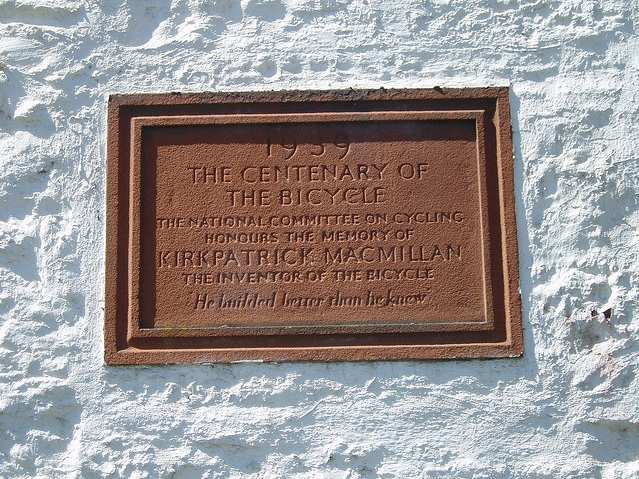 Courthill Smithy Kirkpatrick Macmillan plaque  Kevin 76's Flicker on Flickr