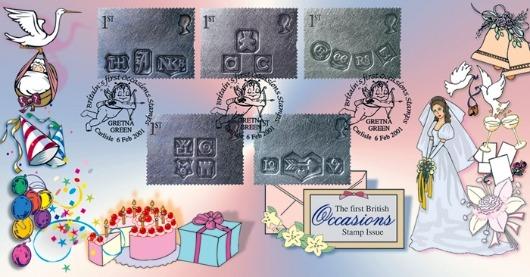 Gretna Green Postmarks 2001 Bradbury FDC