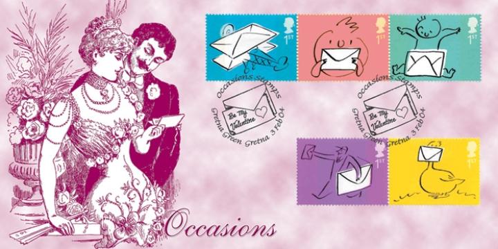 Gretna-Green-Postmarks-2004-Bradbury-FDC