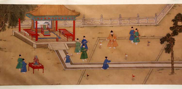 Ming Emperor Xuande playing Golf 1425–1435 Source Wikimedia