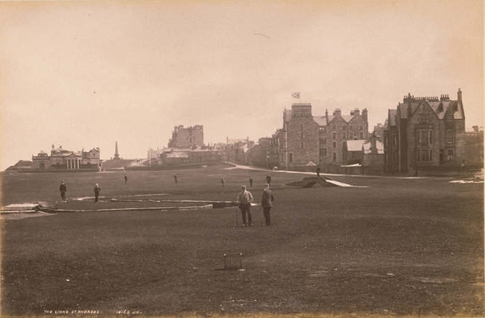 Old Course St. Andrews Scotland 1891 University of St. Andrews Library Photographic Archive J Valentine & Co, Wikipedia